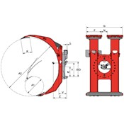 T458C-2 Rotating Roll Clamp